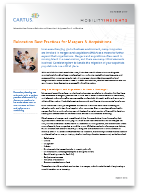 Relocation Best Practices for Mergers & Acquisitions